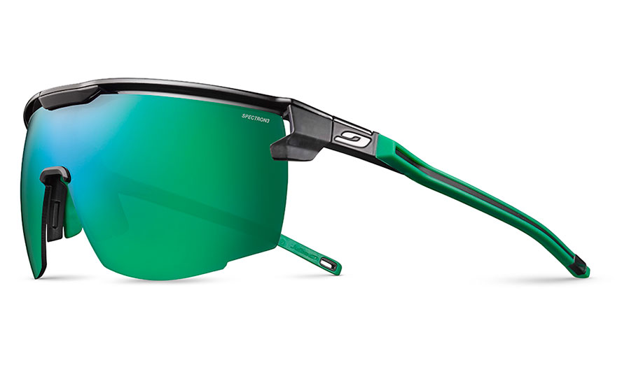 Julbo Ultimate Prescription Sunglasses - Clip-On Insert - Black & Green / Spectron 3 CF Green