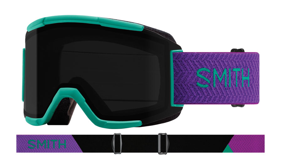 Smith Squad Ski Goggles - Jade Block / ChromaPop Sun Black + Yellow