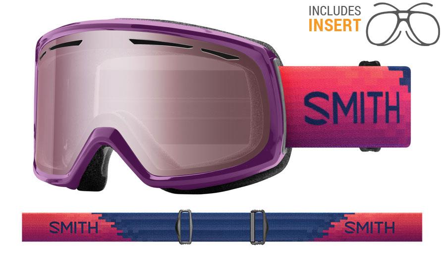 Smith Optics Drift Prescription Ski Goggles - Monarch Reset / Ignitor Mirror