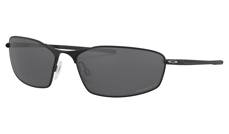 Oakley Whisker Sunglasses - Satin Black / Prizm Black Polarised