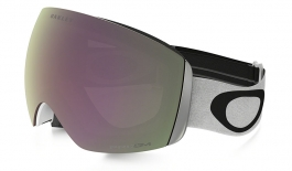 oakley flight deck goggles on sale  oakley flight deck ski goggles matte white / prizm hi pink iridium