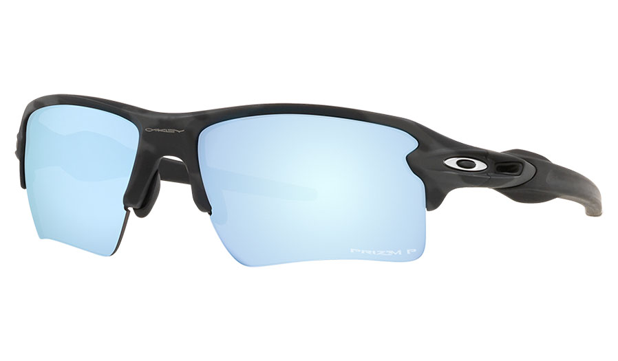Oakley Flak 2.0 XL Sunglasses - Matte Black Camo / Prizm Deep Water Polarised