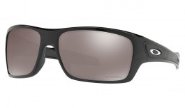 Oakley Turbine Sunglasses - Polished Black / Prizm Black Polarised