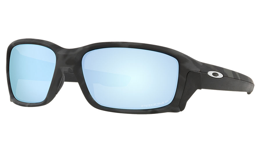 Oakley Straightlink Sunglasses - Matte Black Camo / Prizm Deep Water Polarised