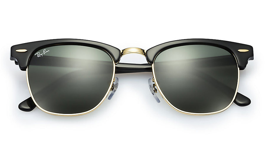 Ray Ban Rb3016 Clubmaster Sunglasses Black Amp Gold