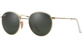 Ray-Ban RB3447 Round Metal Sunglasses - Gold / Green (G-15)