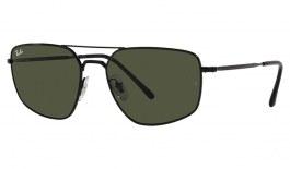 Ray-Ban RB3666 Sunglasses - Black / Green
