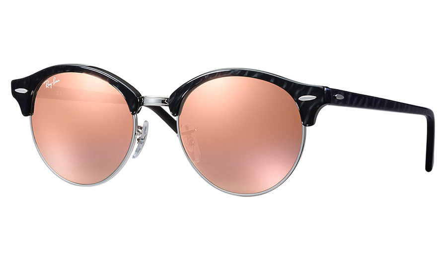 95db38067d Ray-Ban RB4246 Clubround Sunglasses - Black   Silver   Copper Flash -  RxSport