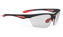Rudy Project Stratofly Prescription Sunglasses - Clip-On Insert - Carbonium & Red / ImpactX 2 Photochromic Black