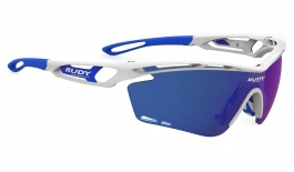 Rudy Project Tralyx Prescription Sunglasses - Clip-On Insert - White Gloss & Blue / Multilaser Blue