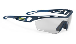 Rudy Project Tralyx Prescription Sunglasses - Clip-On Insert - Matte Navy Blue / ImpactX 2 Photochromic Black