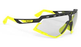 Rudy Project Defender Prescription Sunglasses - Clip-On Insert - Matte Black & Fluo Yellow / ImpactX 2 Photochromic Laser Black