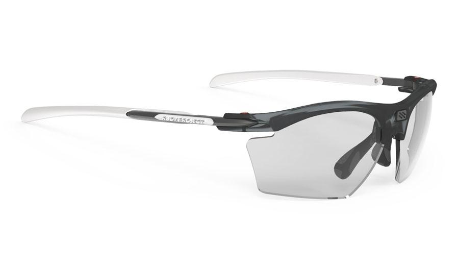 Rudy Project Rydon Slim Prescription Sunglasses - Clip-On Insert - Frozen Ash & White / ImpactX 2 Photochromic Laser Black