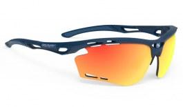 Rudy Project Propulse Prescription Sunglasses - Clip-On Insert - Matte Navy Blue / Multilaser Orange