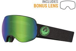 Dragon X2 Ski Goggles - Split / LumaLens Green Ion + LumaLens Amber