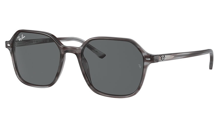 Ray-Ban RB2194 John Sunglasses - Striped Grey Havana / Dark Grey