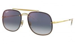 Ray-Ban RB3583N Blaze General Sunglasses - Gold / Blue Gradient Mirror