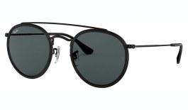 Ray-Ban RB3647N Round Double Bridge Sunglasses - Black / Grey