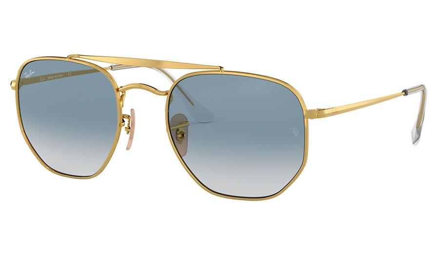Ray-Ban RB3648 Marshal Sunglasses - Gold / Light Blue Gradient