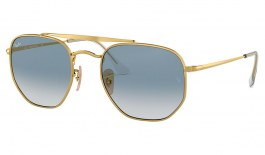 Ray-Ban RB3648 Marshal Sunglasses - Gold / Light Blue Gradient