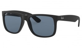 Ray-Ban RB4165 Justin Sunglasses - Black Rubber / Blue Classic Polarised