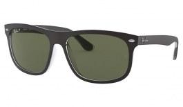 Ray-Ban RB4226 Sunglasses - Black on Transparent / Green Polarised