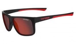 Tifosi Swick Sunglasses - Satin Black & Crimson / Smoke Red