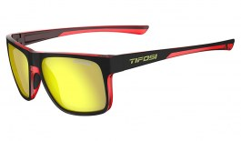 Tifosi Swick Sunglasses - Satin Raven & Crimson / Smoke Yellow