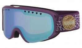Bolle Scarlett Ski Goggles - Matte Purple & Mint Diamond / Aurora