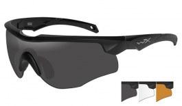 Wiley X Rogue Sunglasses - Matte Black / Smoke Grey + Clear + Light Rust