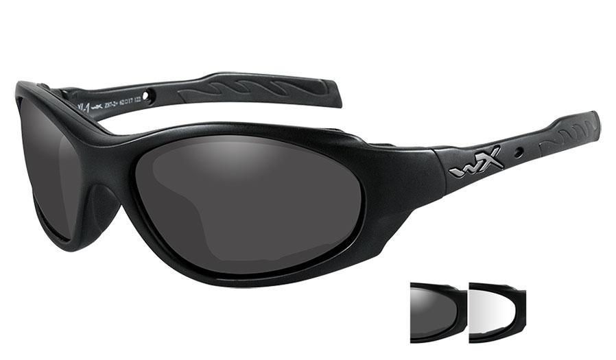 Wiley X XL-1 Advanced Sunglasses - Matte Black / Smoke Grey + Clear