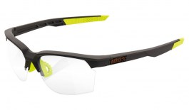 100% Sportcoupe Sunglasses - Soft Tact Cool Grey / Clear Smoke Photochromic