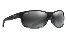 Maui Jim Kaiwi Channel Sunglasses - Grey Black Stripe / Neutral Grey Polarised