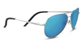 Serengeti Carrara Sunglasses - Shiny Silver / 555nm Blue Polarised Photochromic