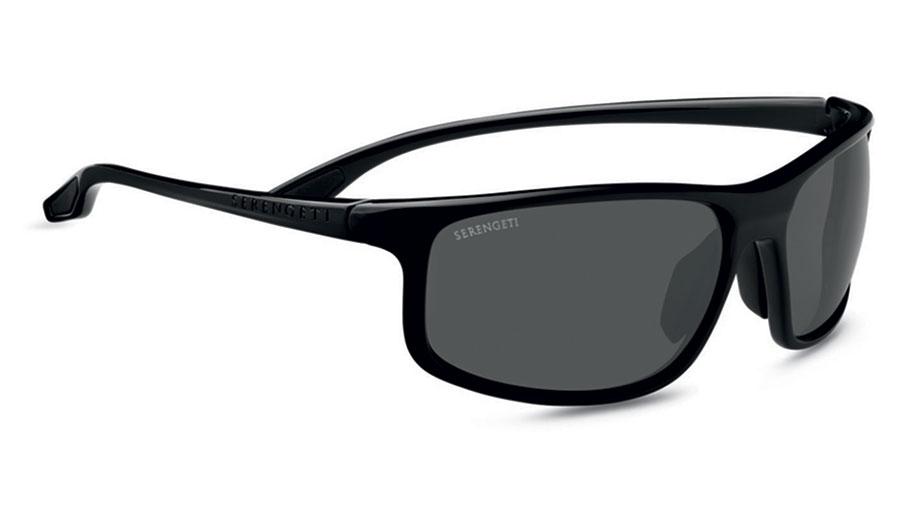 Serengeti Levanzo Sunglasses - Shiny Black / CPG Polarised Photochromic