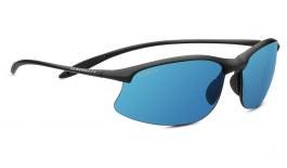 Serengeti Maestrale Sunglasses - Satin Black / 555nm Blue Polarised Photochromic