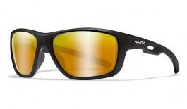 Wiley X Aspect Sunglasses - Matte Black / Captivate Bronze Mirror Polarised