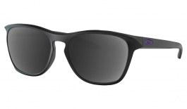 Oakley Manorburn Prescription Sunglasses - Matte Black (Violet Icon)