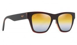 Maui Jim Ekolu Sunglasses - Brown, Red & Tan / Dual Mirror Gold to Silver Polarised