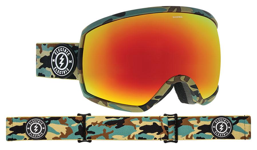 Electric EGG Ski Goggles - Camo / Brose Red Chrome