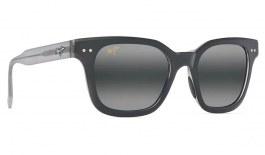 Maui Jim Shore Break Prescription Sunglasses - Matte Black with Grey