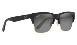 Maui Jim Perico Sunglasses - Gloss Black with Gold / Neutral Grey Polarised