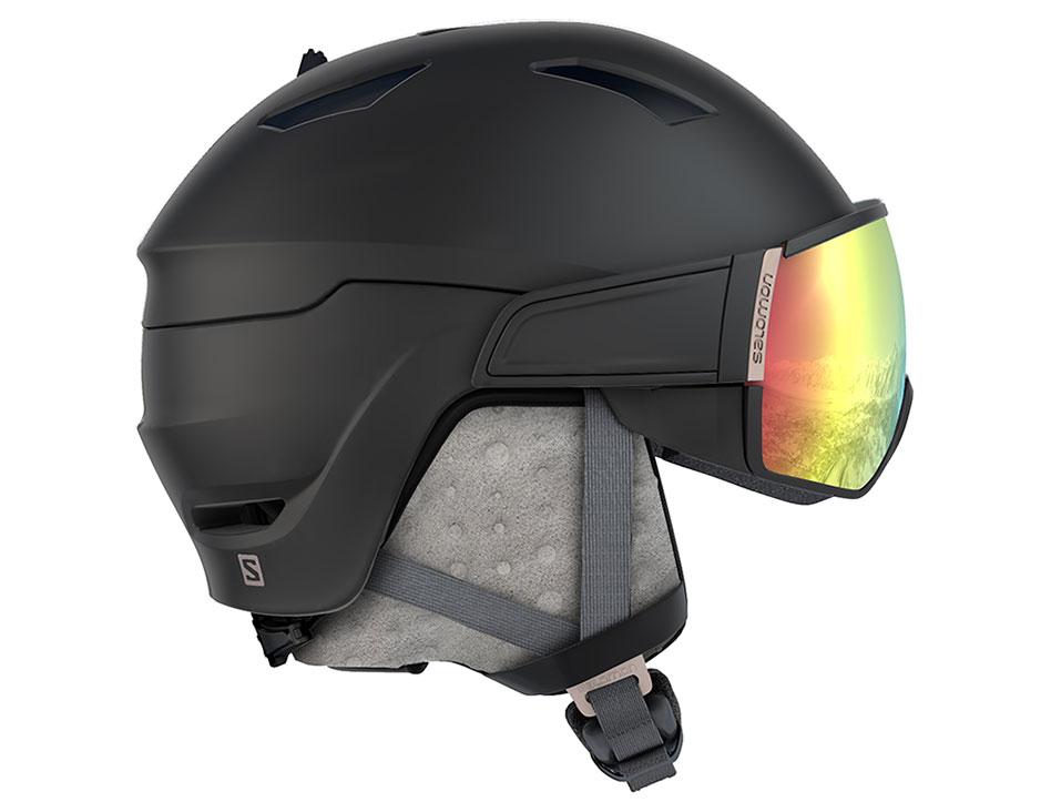 Salomon Mirage+ Ski Helmet - Black / ML Red Photochromic