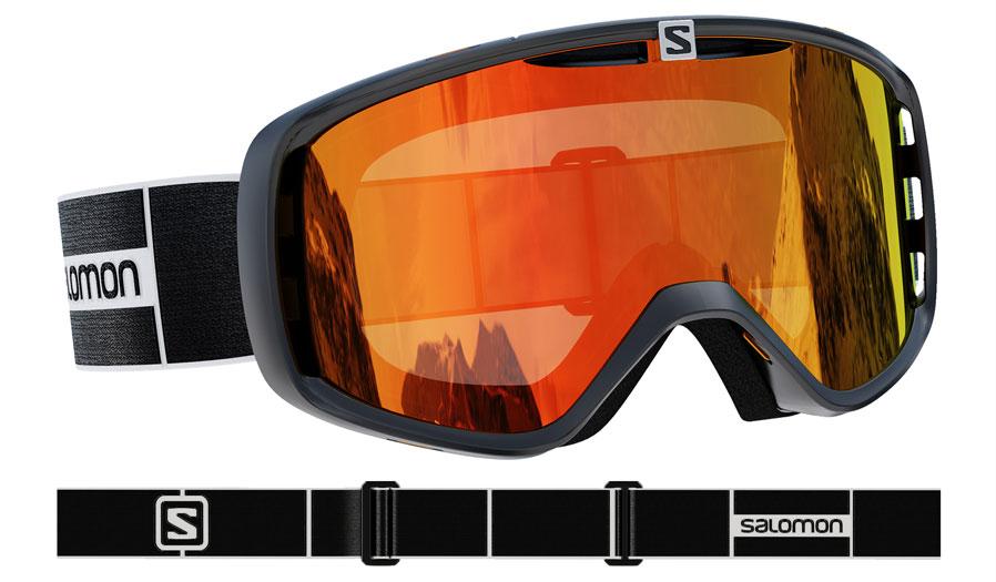 Salomon Aksium Ski Goggles - Black / Universal Mid Red