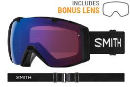 Smith Optics I/O Ski Goggles - Black / ChromaPop Photochromic Rose Flash + ChromaPop Sun Black