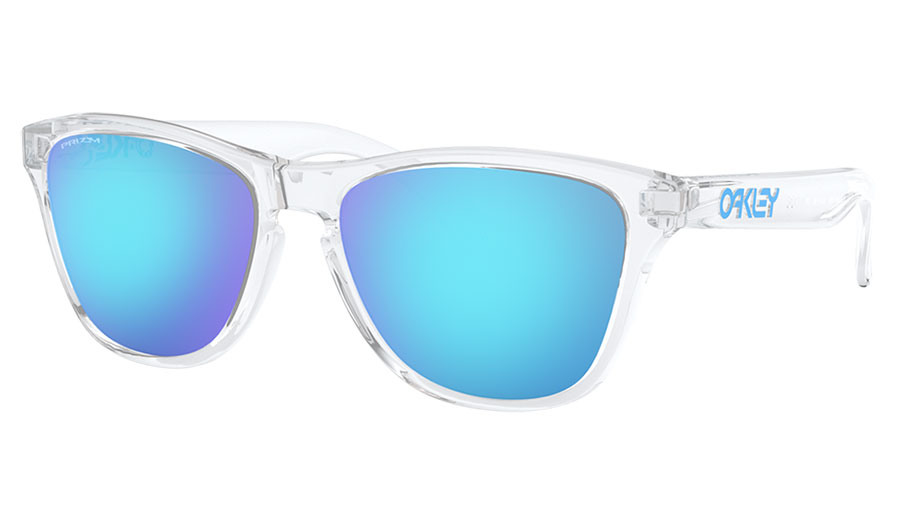 Oakley Frogskins XS Sunglasses - Polished Clear / Prizm Sapphire