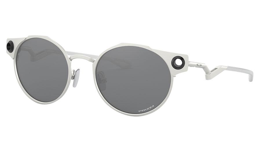 Oakley Deadbolt Sunglasses - Satin Chrome / Prizm Black