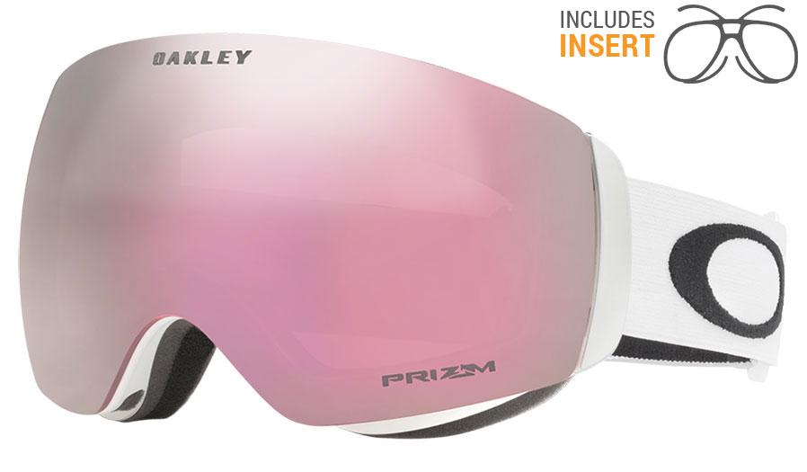79a32eb0b9a Oakley Flight Deck XM Prescription Ski Goggles - Matte White   Prizm HI  Pink Iridium