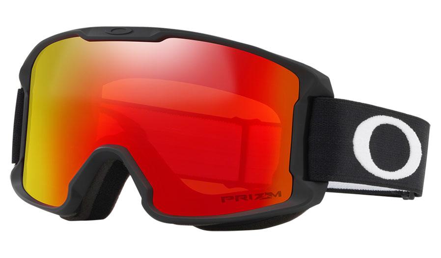 Oakley Line Miner Youth Ski Goggles - Matte Black/ Prizm Torch Iridium