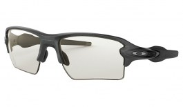 Oakley Flak 2.0 XL Sunglasses - Steel / Clear Black Iridium Photochromic